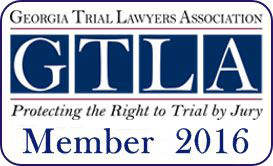 Logo Recognizing Jason R. Schultz P.C's affiliation with the Georgia Trial Lawyers Association